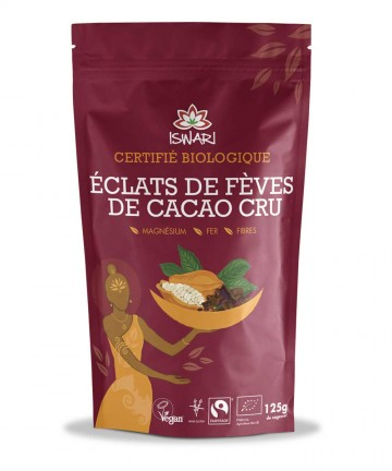 Éclats de fèves de cacao cru