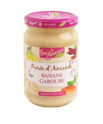 Purée d'amandes Banane Caroube - 300g - Perl'Amande